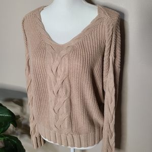 Lumiere Cable Knit Sweater L